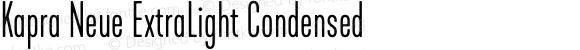 Kapra Neue ExtraLight Condensed