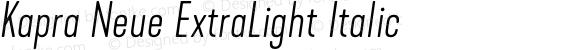 Kapra Neue ExtraLight Italic