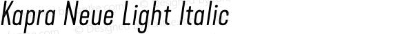 Kapra Neue Light Italic