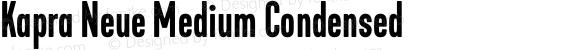 Kapra Neue Medium Condensed