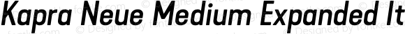 Kapra Neue Medium Expanded Italic
