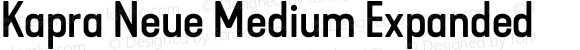 Kapra Neue Medium Expanded