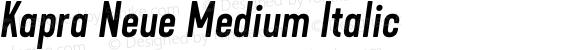 Kapra Neue Medium Italic