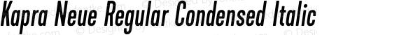 Kapra Neue Regular Condensed Italic