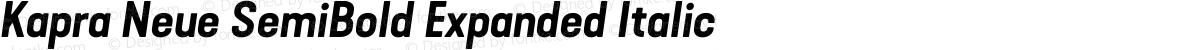 Kapra Neue SemiBold Expanded Italic