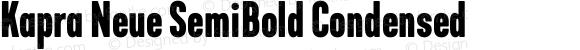 Kapra Neue SemiBold Condensed