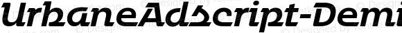 UrbaneAdscript-DemiBoldItalic