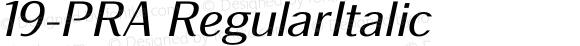 19-PRA RegularItalic