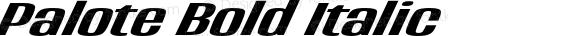 Palote Bold Italic