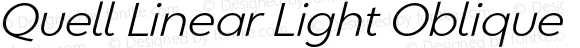 Quell Linear Light Oblique