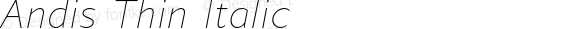 Andis Thin Italic