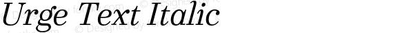 Urge Text Italic
