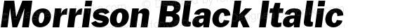 Morrison Black Italic