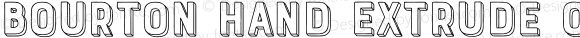 Bourton Hand Extrude Outline Bold