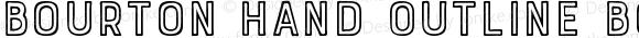 Bourton Hand Outline Bold
