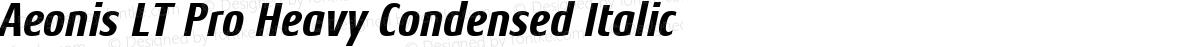 Aeonis LT Pro Heavy Condensed Italic