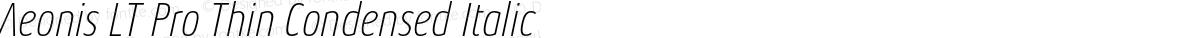 Aeonis LT Pro Thin Condensed Italic