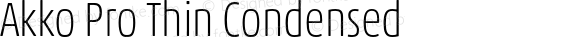 Akko Pro Thin Condensed