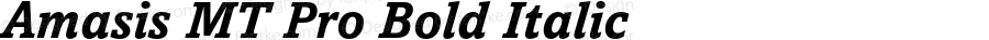 Amasis MT Pro Bold Italic Version 2.000 Build 1000