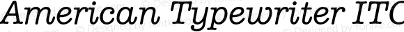 American Typewriter ITC Pro Medium Italic Version 2.000 Build 1000