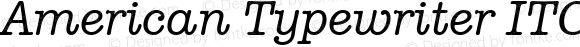 American Typewriter ITC Pro Medium Italic Version 1.00 Build 1000