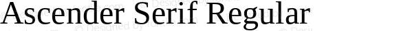 Ascender Serif Regular