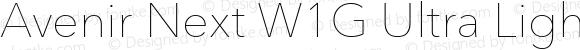 Avenir Next W1G Ultra Light