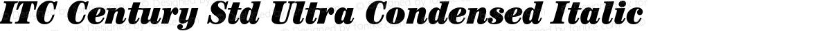 ITC Century Std Ultra Condensed Italic