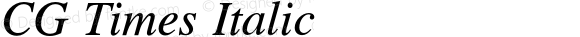 CG Times Italic