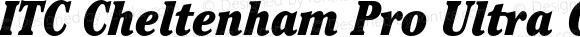 ITC Cheltenham Pro Ultra Condensed Italic