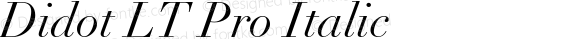 Didot LT Pro Italic Version 1.000 Build 1000