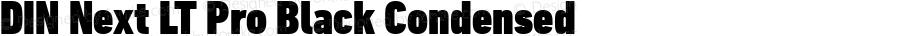 DIN Next LT Pro Black Condensed Version 1.20