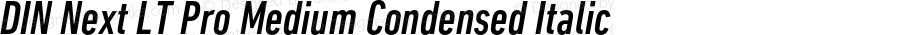 DINNextLTPro-MediumCondIta
