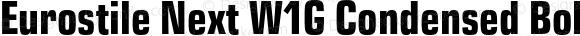 Eurostile Next W1G Condensed Bold