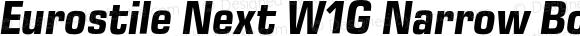 Eurostile Next W1G Narrow Bold Italic