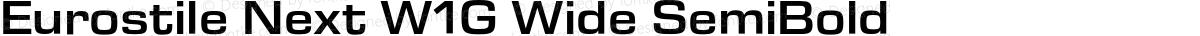 Eurostile Next W1G Wide SemiBold