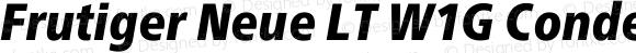 Frutiger Neue LT W1G Condensed Black Italic