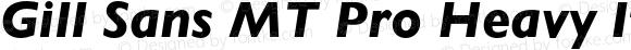 Gill Sans MT Pro Heavy Italic