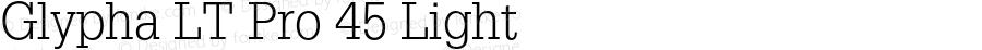 Glypha LT Pro 45 Light Version 2.000 Build 1000