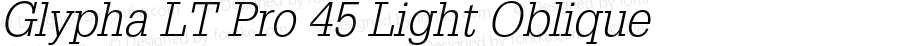 Glypha LT Pro 45 Light Oblique Version 2.000 Build 1000