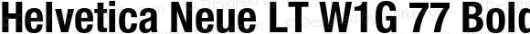 Helvetica Neue LT W1G 77 Bold Condensed