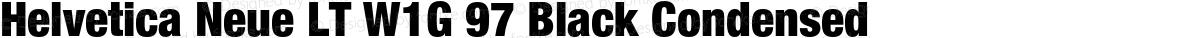Helvetica Neue LT W1G 97 Black Condensed