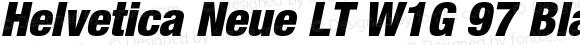 Helvetica Neue LT W1G 97 Black Condensed Oblique