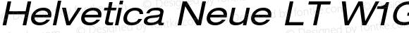 Helvetica Neue LT W1G 53 Extended Oblique