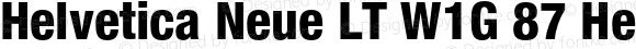 Helvetica Neue LT W1G 87 Heavy Condensed