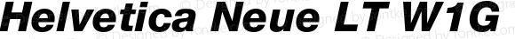 Helvetica Neue LT W1G 86 Heavy Italic