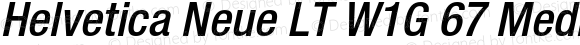 Helvetica Neue LT W1G 67 Medium Condensed Oblique