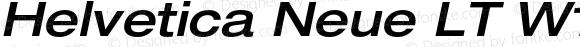 Helvetica Neue LT W1G 63 Medium Extended Oblique