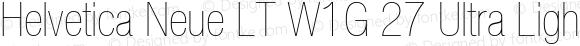 Helvetica Neue LT W1G 27 Ultra Light Condensed