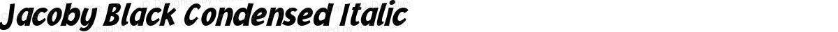 Jacoby Black Condensed Italic